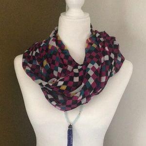 Accessories - Multi-color block pattern scarf